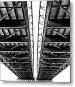 Under The Page Bridge Metal Print by Bill Tiepelman