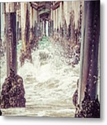Under The Pier Vintage California Picture Metal Print by Paul Velgos