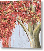 Under The Tree With Gold Leaf By Vic Mastis Metal Print by Vic  Mastis