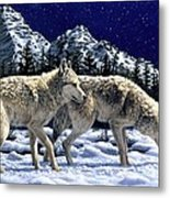 Wolves - Unfamiliar Territory Metal Print by Crista Forest