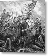 Union Charge At The Battle Of Gettysburg Metal Print by War Is Hell Store