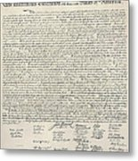 United States Bill Of Rights Metal Print by Charles Beeler