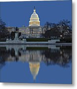 United States Capitol Building Metal Print by Susan Candelario
