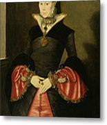 Unknown Lady From The Court Of King Metal Print by Hans Eworth or Ewoutsz