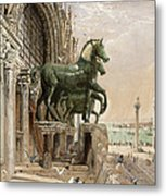 Upper Portion Of The Facade Of St Metal Print by William Bell Scott