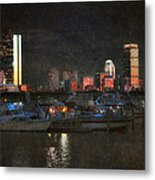 Urban Boston Skyline Metal Print by Joann Vitali