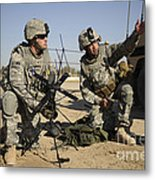U.s. Army Soldiers Setting Metal Print by Stocktrek Images