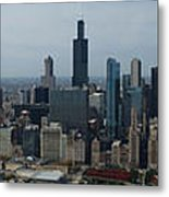 Us Cellular And Wrigley Field Chicago Baseball Parks 3 Panel Composite 02 Metal Print by Thomas Woolworth