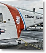 Us Coast Guard Helicopter Metal Print by Paul Ward