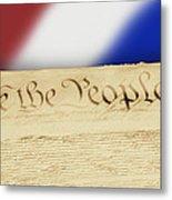 Us Constitution Metal Print by Linda Phelps