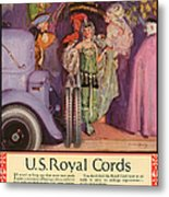 Us Royal Cords 1924 1920s Usa Cc Cars Metal Print by The Advertising Archives