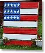 Usa Flag Metal Print by Kim Stafford