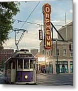 Usa, Tennessee, Vintage Streetcar Metal Print by Dosfotos