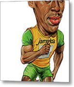 Usain Bolt Metal Print by Art