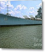 Uss New Jersey Metal Print by Olivier Le Queinec