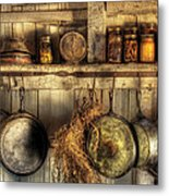 Utensils - Old Country Kitchen Metal Print by Mike Savad
