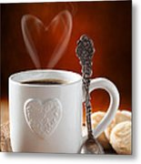 Valentine's Day Coffee Metal Print by Amanda Elwell