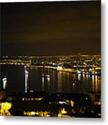 Valparaiso Harbor At Night Metal Print by Kurt Van Wagner