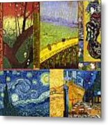 Van Gogh Collage Metal Print by Philip Ralley