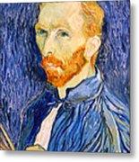 Van Gogh On Van Gogh Metal Print by Cora Wandel