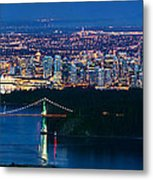 Vancouver From Cypress Mountain Metal Print by Alexis Birkill