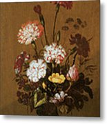 Vase Of Flowers Metal Print by Hans Bollongier