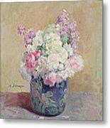 Vase Of Flowers Metal Print by Henri Lebasque