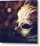 Venetian Mask Metal Print by Jelena Jovanovic