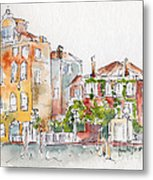 Venezia Grand Canal Metal Print by Pat Katz