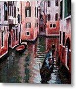 Venice Gondola Ride Metal Print by Janet King