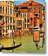 Venice Street Lamp Metal Print by Mick Burkey