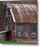 Vermont Barn Art Metal Print by Juergen Roth