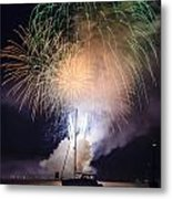 Vermont Fireworks Metal Print by Randall Bertrand