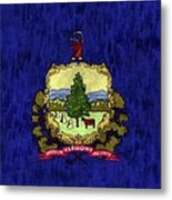 Vermont Flag Metal Print by World Art Prints And Designs