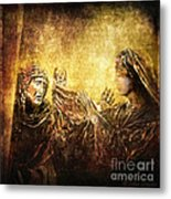 Veronica Wipes His Face Via Dolorosa 6 Metal Print by Lianne Schneider