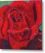 Very Red Rose Metal Print by Arlene Crafton