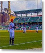 Victory Field Catcher 1 Metal Print by David Haskett