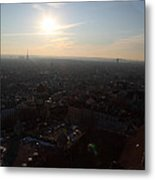 View From Basilica Of The Sacred Heart Of Paris - Sacre Coeur - Paris France - 011313 Metal Print by DC Photographer