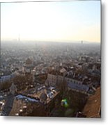 View From Basilica Of The Sacred Heart Of Paris - Sacre Coeur - Paris France - 011314 Metal Print by DC Photographer