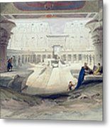 View From Under The Portico Of Temple Metal Print by David Roberts