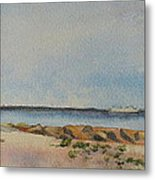 View Of Harkness Park From Seaside Waterford Ct Metal Print by Patty Kay Hall