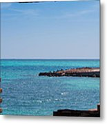 View Through The Walls Of Fort Jefferson Metal Print by John M Bailey