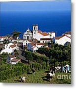 Village In Azores Islands Metal Print by Gaspar Avila