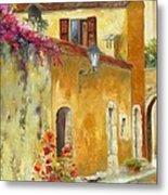 Village In Provence Metal Print by Chris Brandley