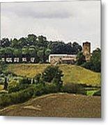 Ville Di Corsano Near Siena - Tuscany Italy Metal Print by Karen Stephenson