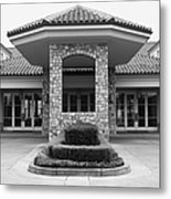 Vineyard Creek Hyatt Hotel Santa Rosa California 5d25792 Bw Metal Print by Wingsdomain Art and Photography