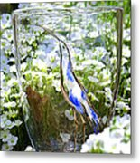 Vinsanchi Glass Art-3 Metal Print by Vin Kitayama