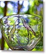 Vinsanchi Glass Art-4 Metal Print by Vin Kitayama