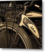 Vintage 1941 Boys And 1946 Girls Bicycle 5d25760 Vertical Sepia1 Metal Print by Wingsdomain Art and Photography