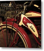 Vintage 1941 Boys And 1946 Girls Bicycle 5d25760 Vertical Sepia2 Metal Print by Wingsdomain Art and Photography